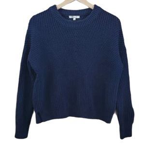 Madewell Blue Heavy Knit Sweater